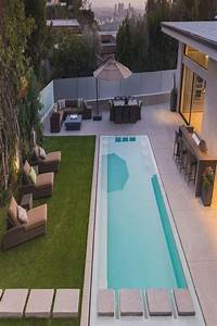 Decor, -, Pools, Modern, Design, With, Concrete, Steps, As, A, Feature