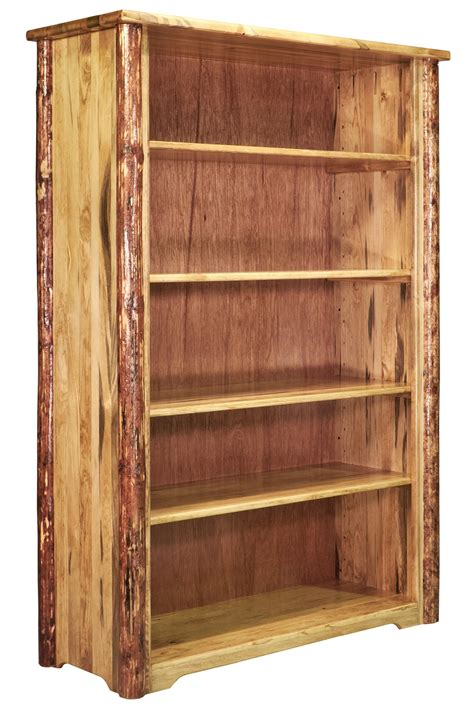 Log Bookcase by Glacier Country Log Bookcase