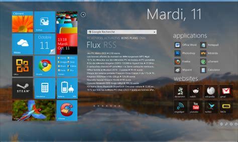 personnaliser bureau windows 8 pc astuces transformer bureau en tableau de bord