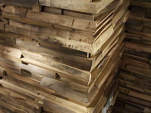Revetement Bois Mural : rev tement mural 3d en bois massif pour int rieur waldkante by team 7 ~ Melissatoandfro.com Idées de Décoration