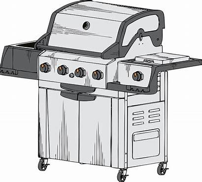 Barbecue Grill Propane Pixabay Vector Grilled Graphic