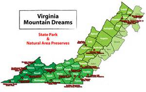 State Parks in Virginia Mountains Map