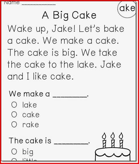 Fun Worksheets For 1st Grade Reading  1st Grade Reading Level Worksheets Kristal Project Edu