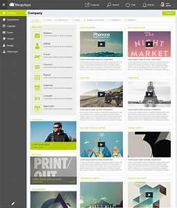Intranet design branding service mangoapps for Company intranet template