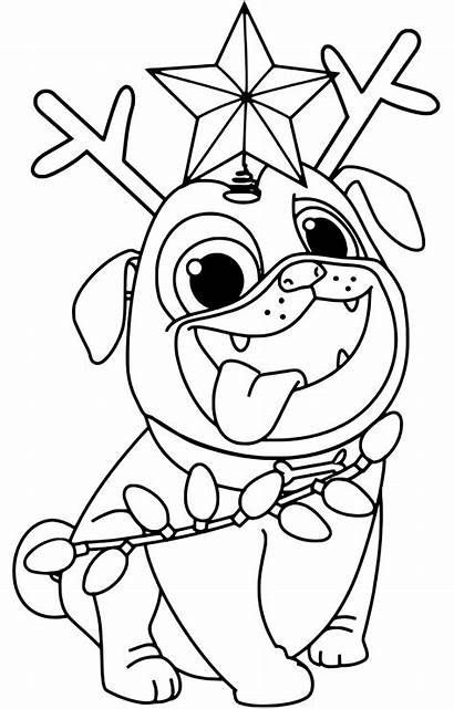Puppy Coloring Dog Pages Pals Printable Dogs
