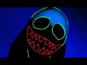 Light Up Neon LED EL Wire Clown Mask From TurnNeon