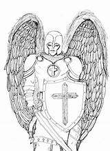 Angel Coloring Guardian Printable Simple Whole sketch template