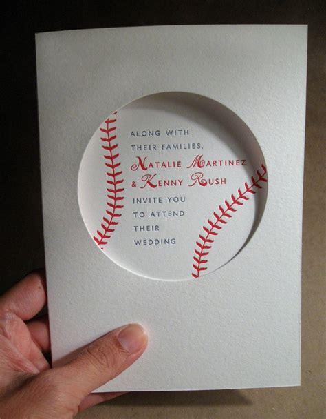 baseball invitation baseball wedding invitation sle