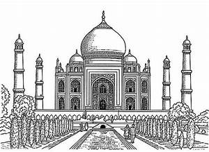 Taj Mahal clipart pencil sketch - Pencil and in color taj ...