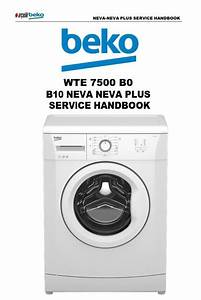 Beko Wte 7500 B0 Washing Machine Service Manual
