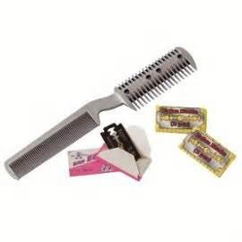 peigne rasoir coupe cheveux 2 lames noir achat et vente - Peigne Rasoir Coupe Cheveux