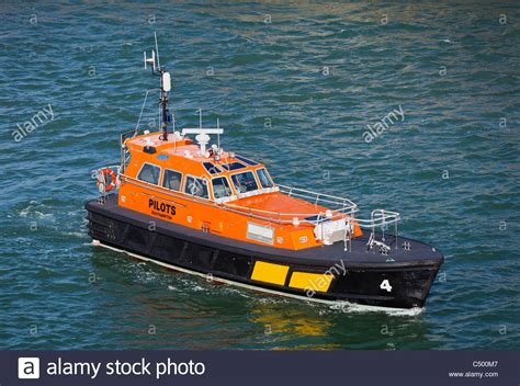 Boats Portsmouth by Pilot Boat In Portsmouth Harbour Uk Stock Photo