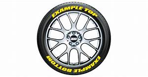 custom tire stickers top bottom tire stickers With white letter tire stickers