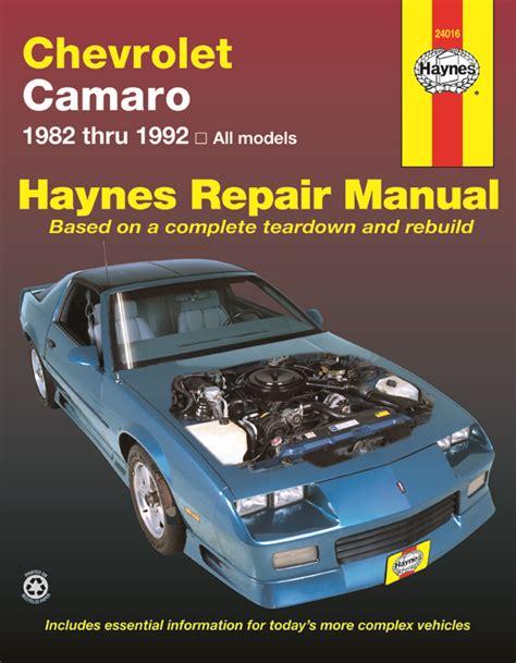 manual repair autos 1981 chevrolet camaro parking system camaro haynes manuals