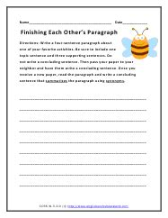writing a conclusion paragraph worksheet