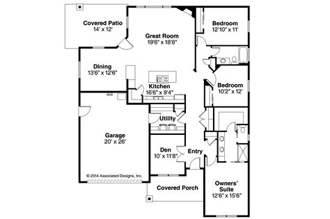 House Floor Plans by Country House Plans Westfall 30 944 Associated Designs