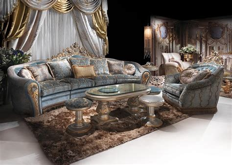 hand decorated sofa  classic luxury living room idfdesign