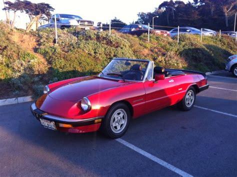 Alfa Romeo Convertible by Alfa Romeo Spider Veloce Convertible 1987