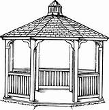 Gazebo Template Coloring Pages Sketch sketch template