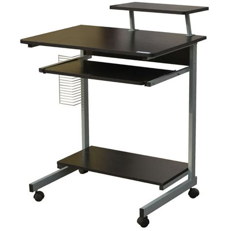 Office Desk On Wheels by Homegear Compact Home Office Computer Desk On Wheels Black