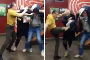 McDonalds employee and his mate punch customer who swore ...