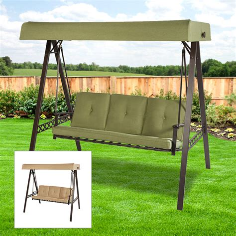 Patio Swings With Canopy Walmart by Garden Winds Replacement Canopy 3 Person Swing 2017