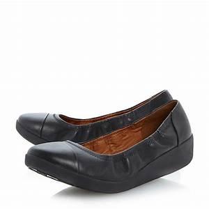 Fitflop F-pop Ballerina Shoes in Black | Lyst