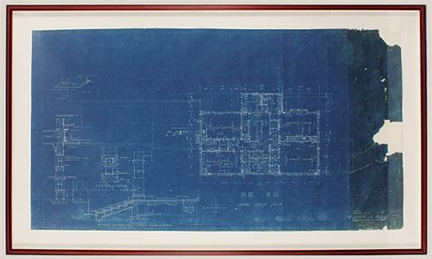 lot detail elvis presley graceland original blueprints