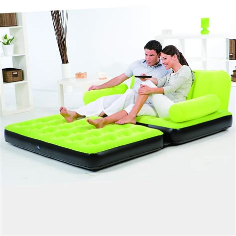 blow up sofa bed double sofa air bed inflatable blow up couch furniture