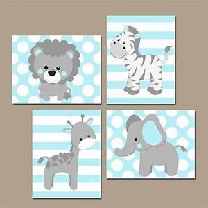baby boy nursery wall art blue gray nursery artwork With wall decor for baby boy