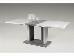 Table Rectangulaire Pied Central : table extensible pied central boral tidy home ~ Melissatoandfro.com Idées de Décoration