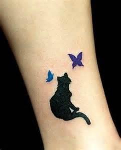 cat tattoos black shadow cat style design my free wallpapers hub