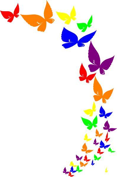 rainbow butterfly clip art  clkercom vector clip art