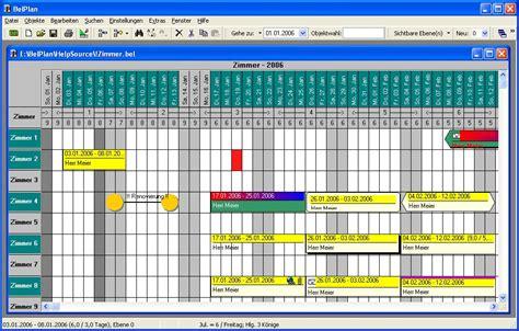 belplan belegungsplaner und objekt verwaltung fuer windows