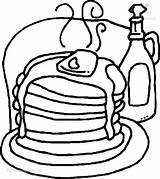 Coloring Pancakes Coloringpage Pancake Pages 1001coloringpages sketch template