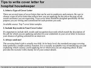 hospital housekeeper cover letter With how to write a cover letter for a hospital job