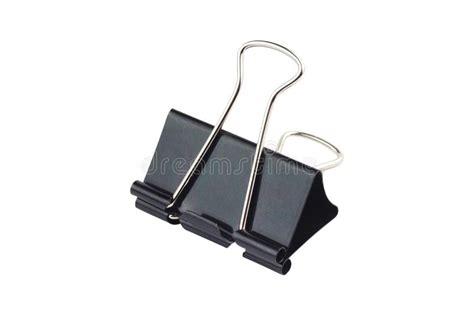 black metal paper clip stock image image  paperclip