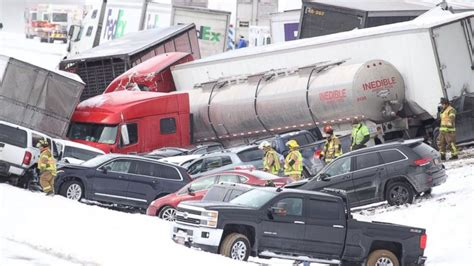About 50 Cars Involved In Deadly Pile-up On Snow-covered