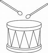 Drum Clip Clipart Drums Outline Drawing Snare Marching Line Coloring Christmas Instrument Template Cliparts Pages Drawings Percussion Sweetclipart Easy Amp sketch template