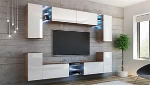 Tv Wand Weiß Hochglanz : kaufexpert wohnwand galaxy wei hochglanz sonoma eiche mediawand medienwand design modern led ~ Indierocktalk.com Haus und Dekorationen
