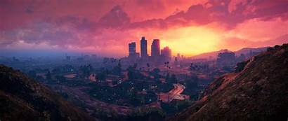 Theft Grand Santos 4k Gta Sunset Scenery