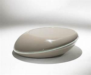 Table Basse Galet Led : galet table basse design taupe clair avec eclairage led ~ Melissatoandfro.com Idées de Décoration