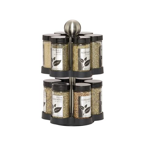 Revolving Spice Rack With 16 Spices by Kamenstein 12 Jar Revolving Spice Rack With Free