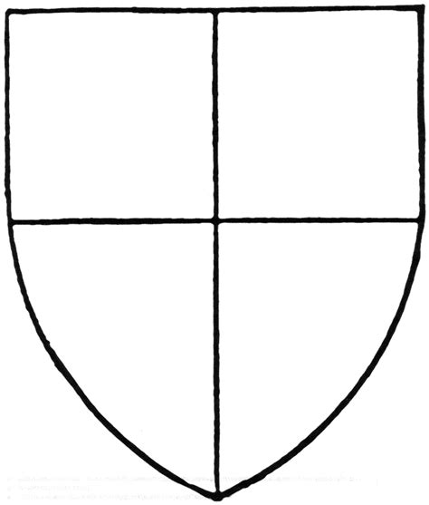 School Shield Template by Blank Family Crest Coloring Pages