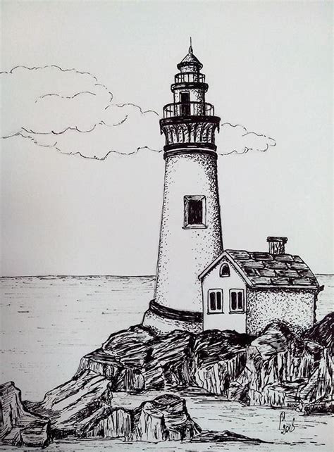 lighthouse  images lighthouse drawing pencil