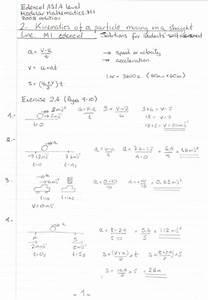Uniform Acceleration Maths   Mechanics Model Answers To A