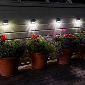 Outdoor Spot Lights Solar Solar Fence Lights Pack Of 4