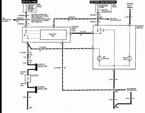 Rear Defogger Wiring Diagram Third Generation Body