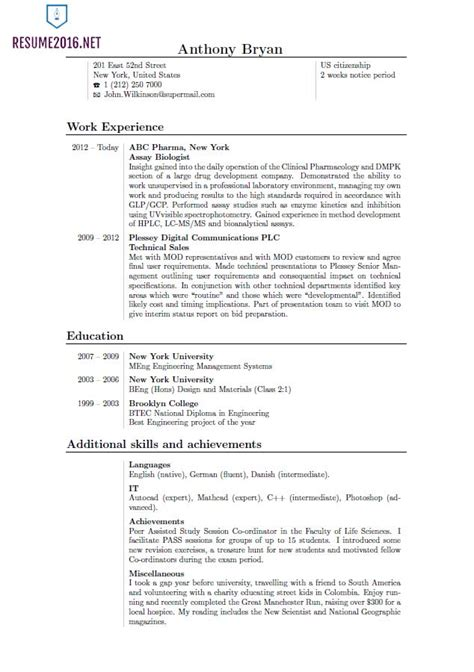 Popular Resume Formats 2015 by 2016 Best Resume Format Template