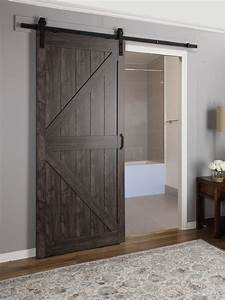 erias home designs continental mdf engineered wood 1 panel With barn doors california